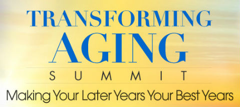 Banner for the Transforming Aging Summit, featuring Alice and Richard Matzkin.